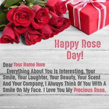 Romantic Rose Day Images With Name