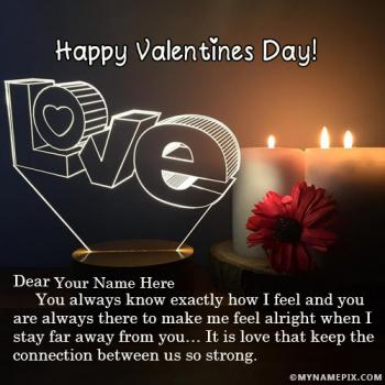 Romantic Valentines Day Images With Name