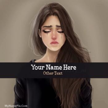 Sweet Girl Crying Image With Name