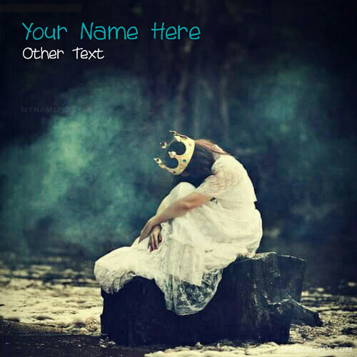 Alone Queen Crying Image With Name