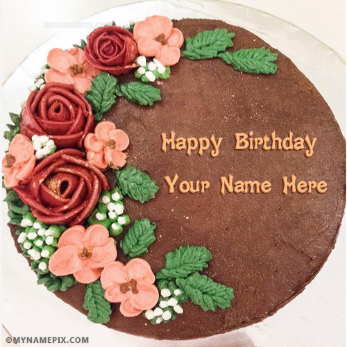 Amazing Chocolate Birthday Cake Images With Name