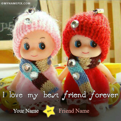 Awesome Beautiful Cute Dolls Friendship Image With Name