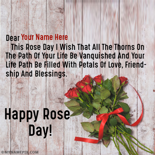 Beautiful Rose Day Quotes With Name