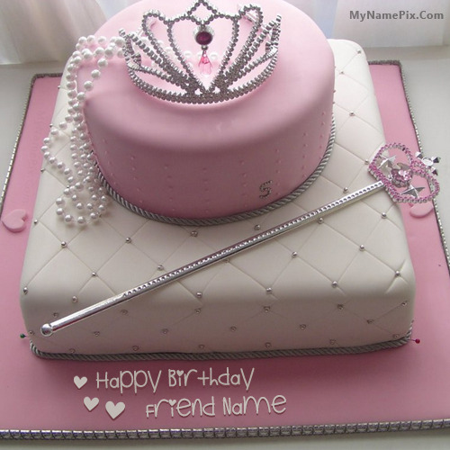 Cake for Girl Princess With Name