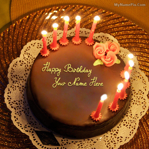 Images Of Birthday Cake Of Husband : Birthday cake with name and photo editor online