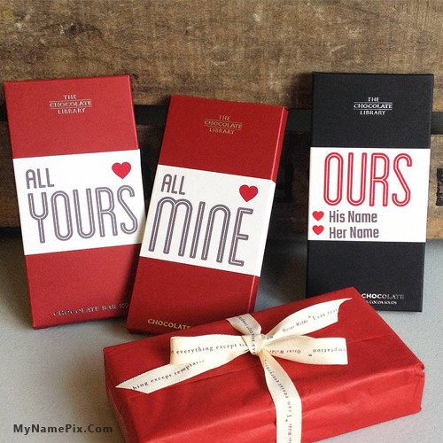 Chocolate Day Gift With Name