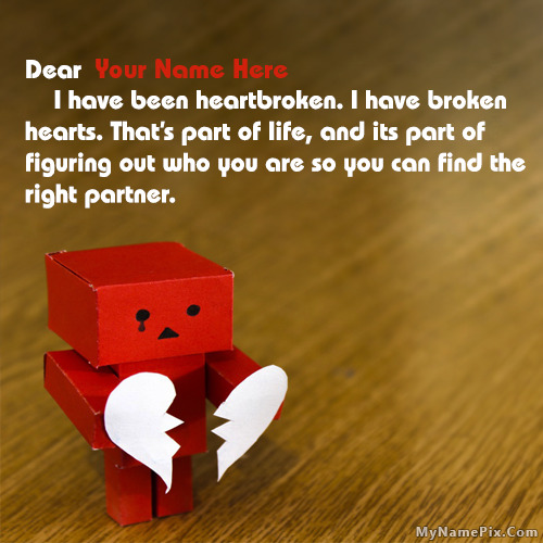 Danbo Heartbroken Quotes With Name Image With Name