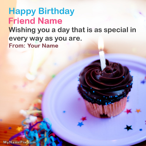 Friend Birthday Wish With Name