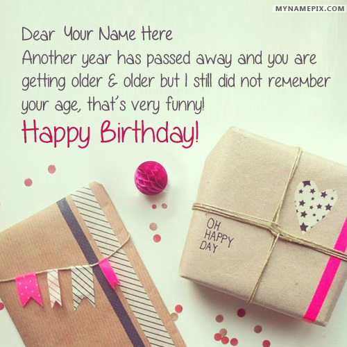 Funny Birthday Wishes With Name