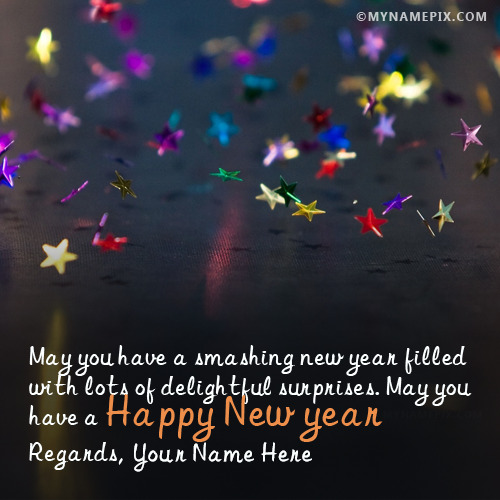 awesome happy new year greetings with name