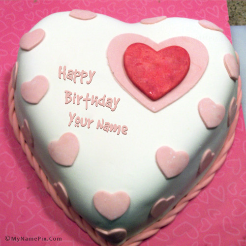 Cake For My Lover : Heart Birthday Cake For Lover With Name
