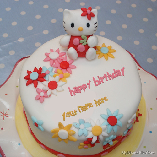 Birthday Kajal Name Cake Images : Image Gallery hello kitty bday cakes
