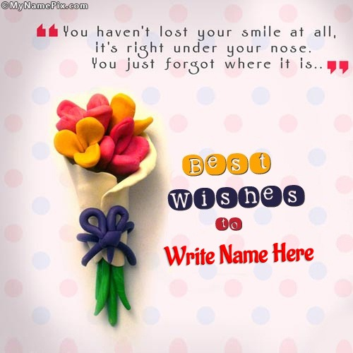 Best Wishes Dear With Name  Exam Best Wishes Cards