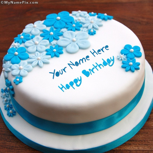 Cake Images And Names : Birthday Ice Cream Cake With Name