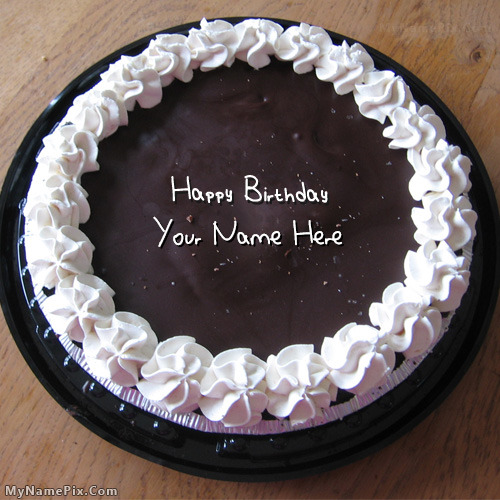 Cake Images With Name Nikhil : Happy birthday cake with name editor