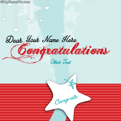Congratulation Cake Images With Name : Congratulations Dear With Name