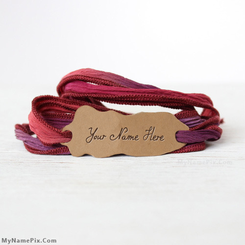 Personalized Cool Silk Wrap Bracelets With Name