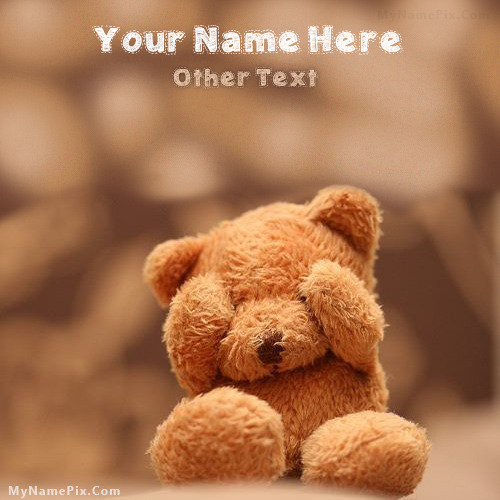 Cute Teddy Image With Name