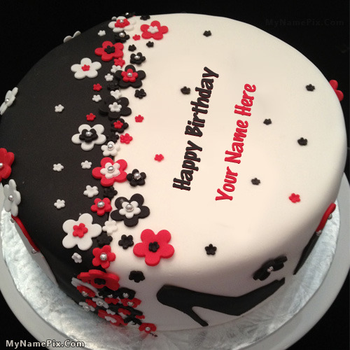 Cake Images With Name Anshu : Elegant Birthday Cake With Name