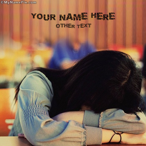 Girl Crying Image With Name