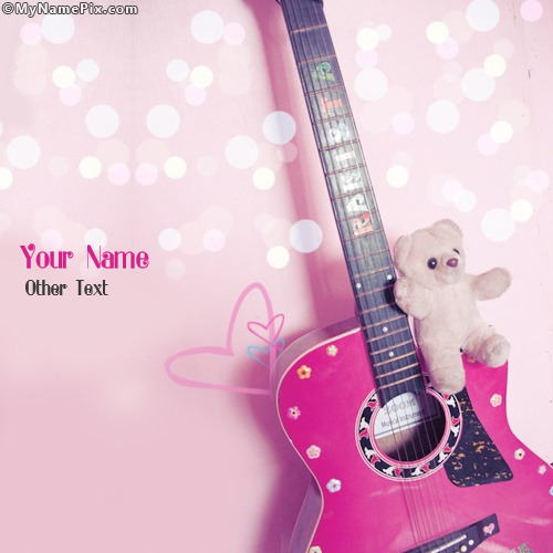 Girly Guitar Image With Name