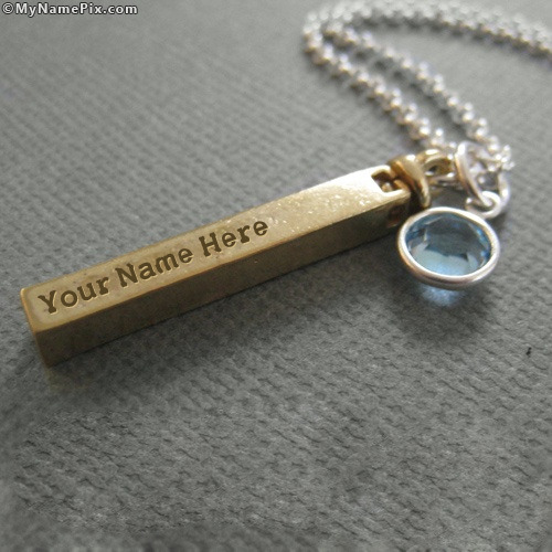 Personalized Golden Pendant With Name