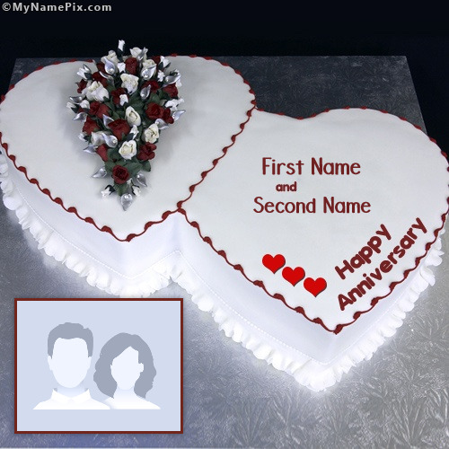 Anniversary Cake Images With Name Editor : Happy Anniversary Cake With Name