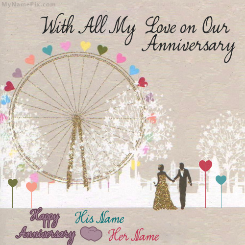 Happy Anniversary Card With Name