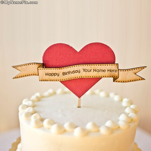 Images Of Cake In Which Name Can Be Written : Happy Birthday Cake With Name
