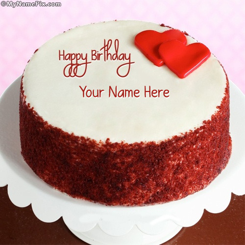 Cake Name Art : Happy Birthday Cake With Name