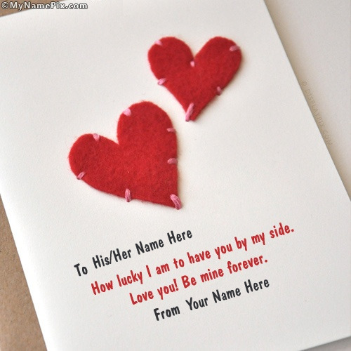Hearts Card Image With Name