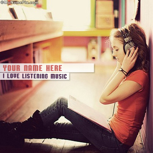 I Love Listening Music Image With Name