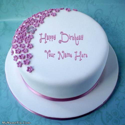 Cake Images And Names : Birthday cake with name maker online