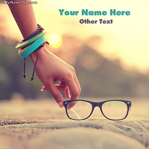 Picking Glasses Image With Name