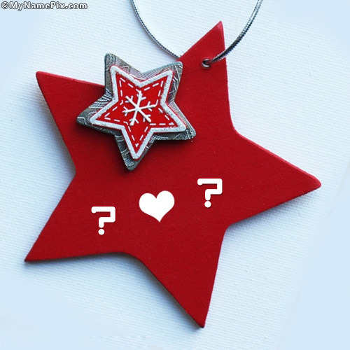 Red Star Alphabets With Name