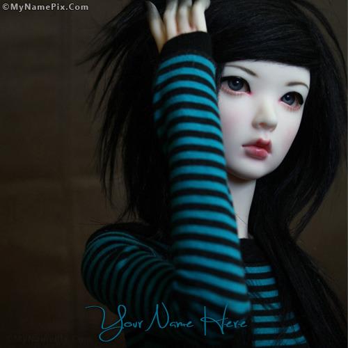 Stylish Doll Image With Name
