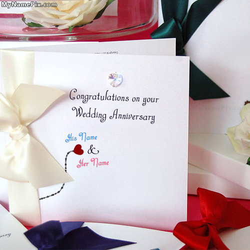 Wedding Anniversary Card With Name