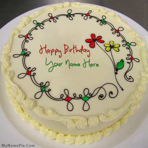 Write Name On Anniversary Cake Images : Write Name on Birthday Cake With Name