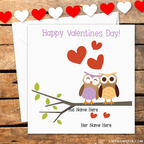 Love Birds Valentines Day Photos With Name