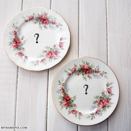 Love Dishes With Name