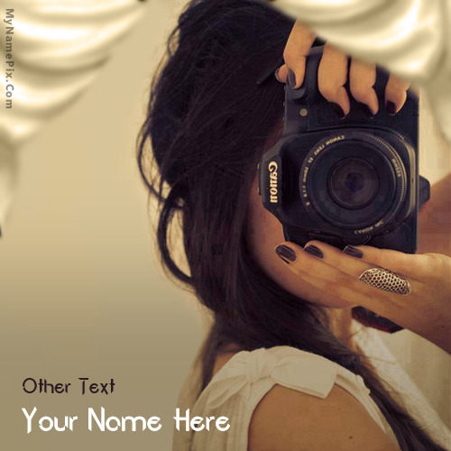 Photographer Girl Image With Name