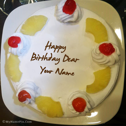 Pineapple Birthday Cake With Name