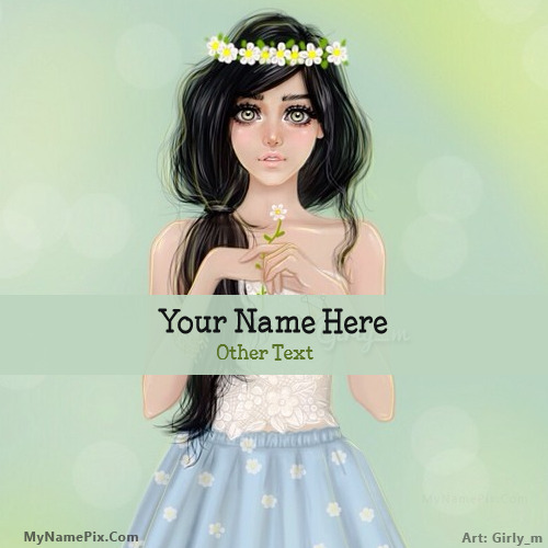 Pretty Girl Drawing Image With Name