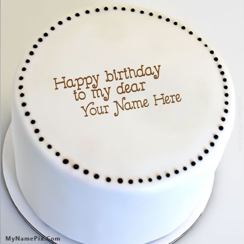 Simple Round Cake Images : Simple Round Cake With Name