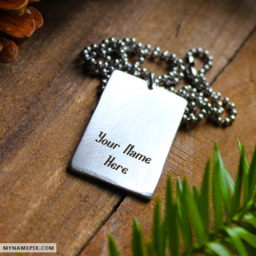 Personalized Steel Elegant Necklace With Name