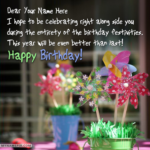 Write Name on Happy Birthday Wishes
