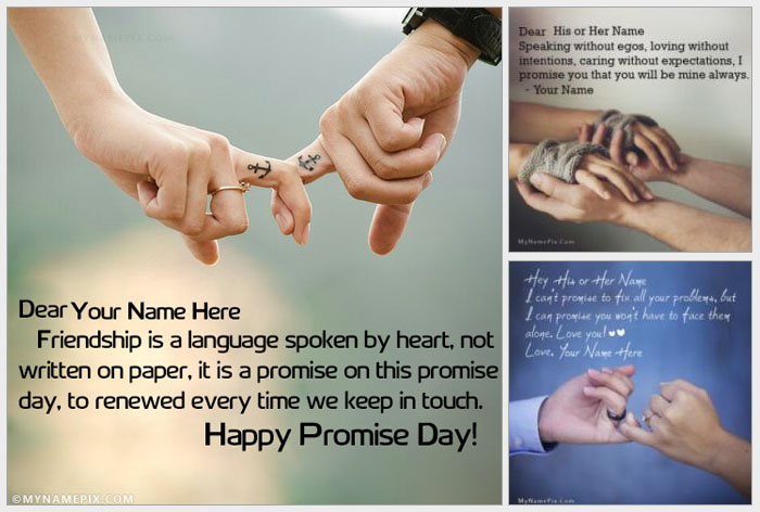 Happy Promise Day Images With Name