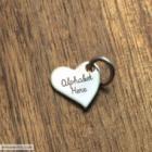 English Alphabet On Heart Necklace