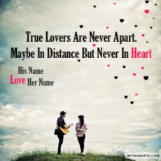 Amazing Couple Love Quote With Name