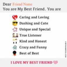 Beautiful Note For Best Friend